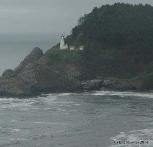 Heceta Head Lighthouse with lamp burning