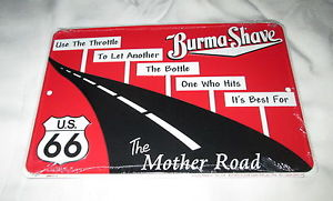 Burma Shave sign of yesteryear