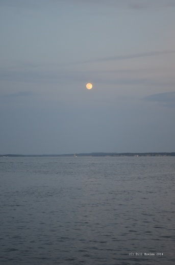 Moon and lake (C)