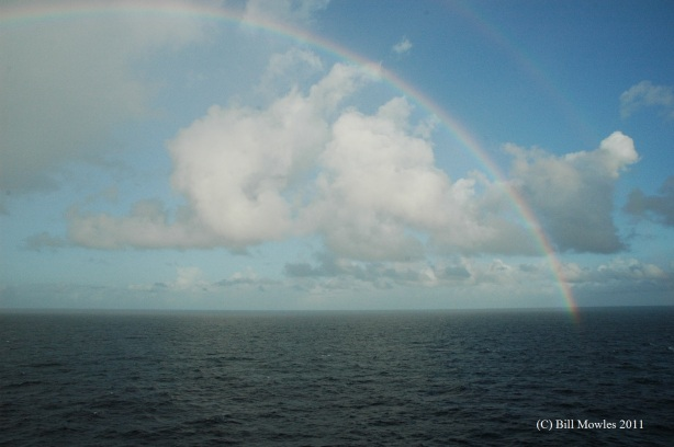 Rainbow across the ocean
