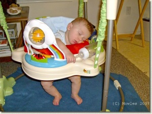 Swinging and bouncing can be exhausting!