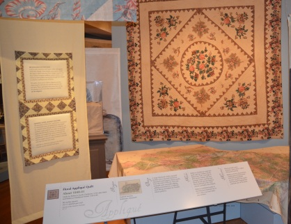 Floral Applique Quilt [circa 1840-41] on display at DAR museum in Washington, D.C.