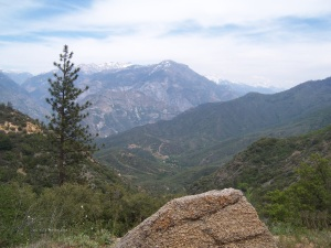 View from mountains in Yosemite National Park