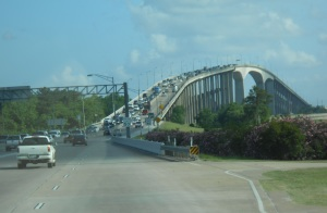 Bridge across the Mississippi River outside of Louisiana