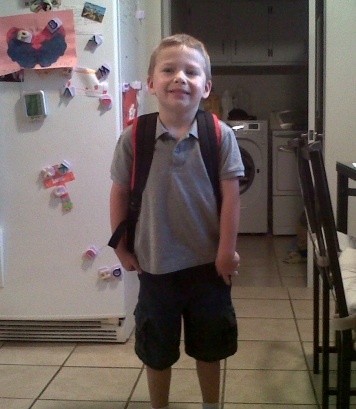 The First Day of Kindergarten.