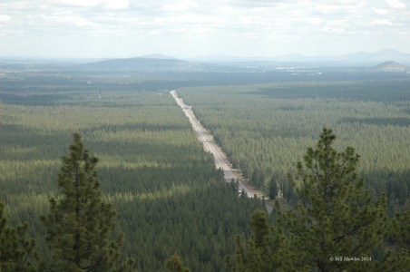 View of road from Lava Butte Lookout