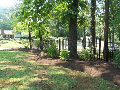 Fence line after landscaping