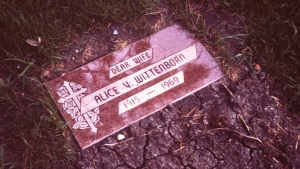 Mother's tombstone