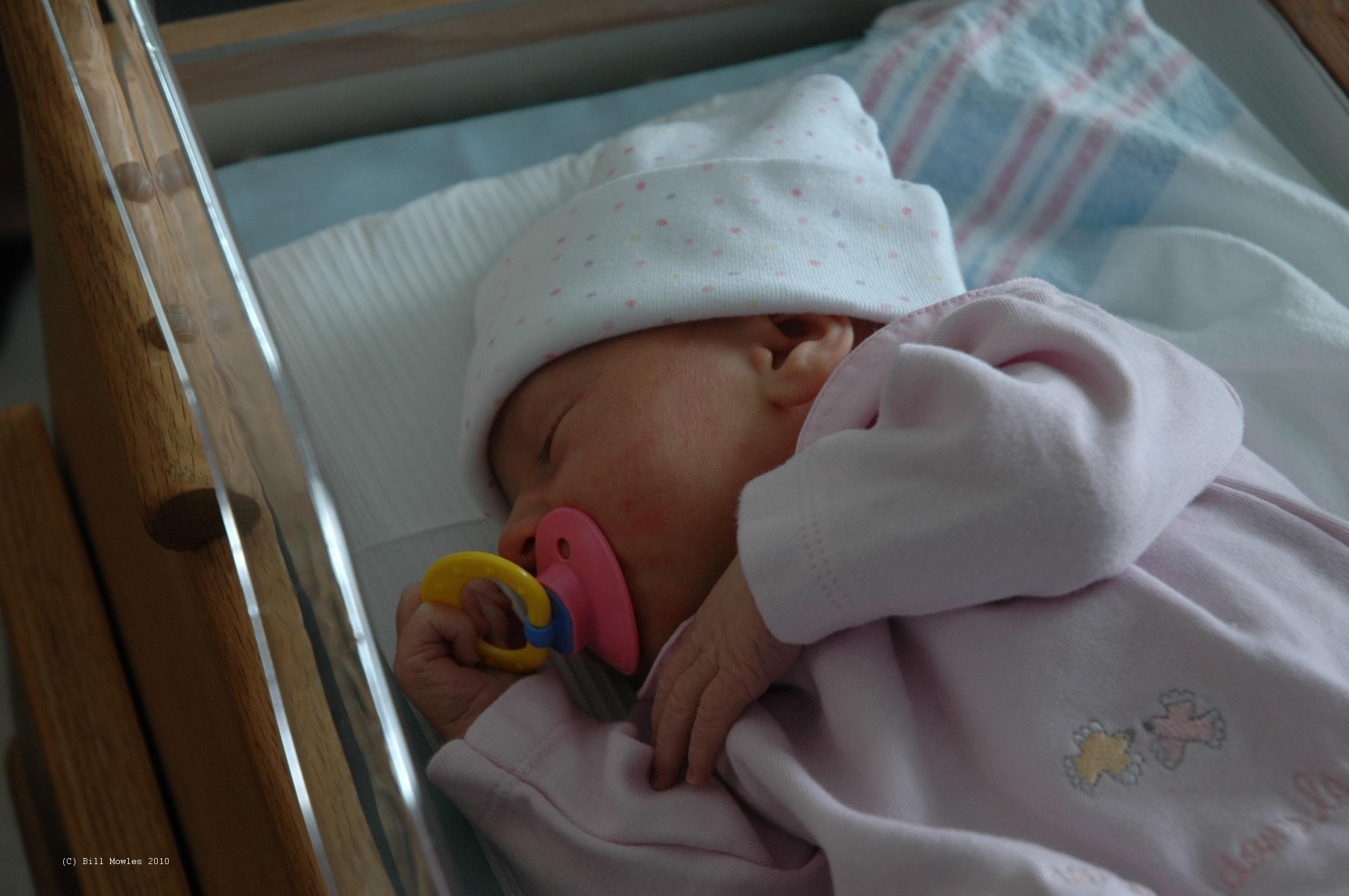 Baby newborn in hospital bassinet (C)
