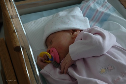 Newborn baby ready to come home from hospital