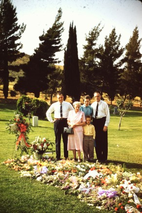 Family at my grandfather's grave