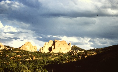 Storm clouds over Lookout Rock, Colorado