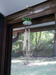 Wind chimes on porch