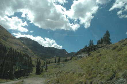 Colorado mountains, where earth and sky collide.