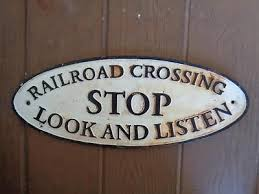 Stop look listen sign from ebay
