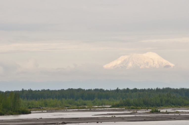 Mt. McKinley from train to Denali National Park