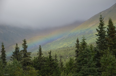 Landscape Rainbow, Seward Highway, Alaska
