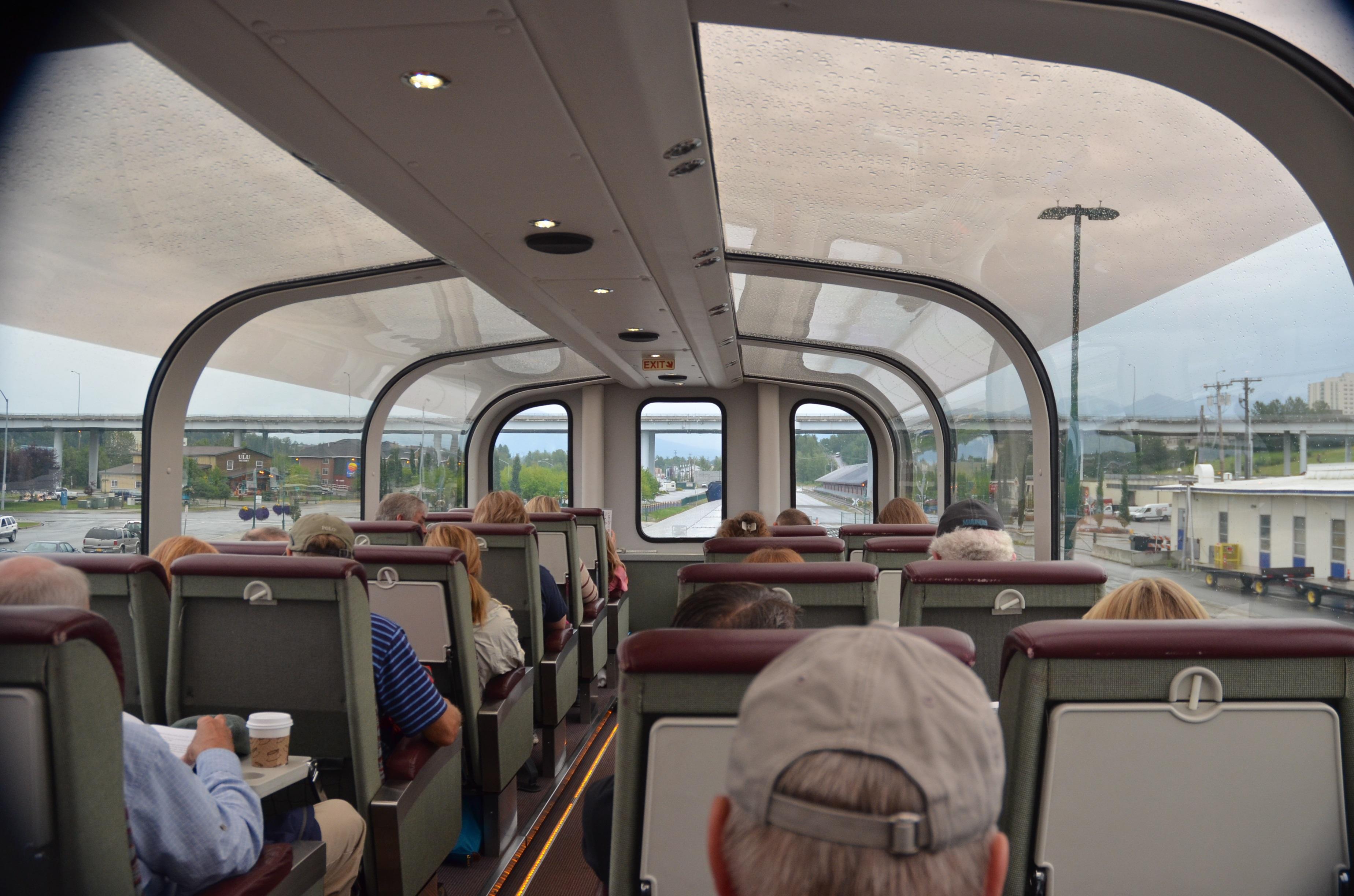 Railroad train - inside observation car