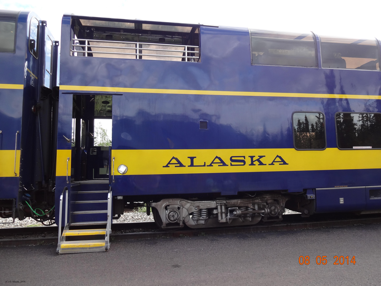 Train Alaska Railroad Train observation car, Anchorage Alaska, Moore (C)