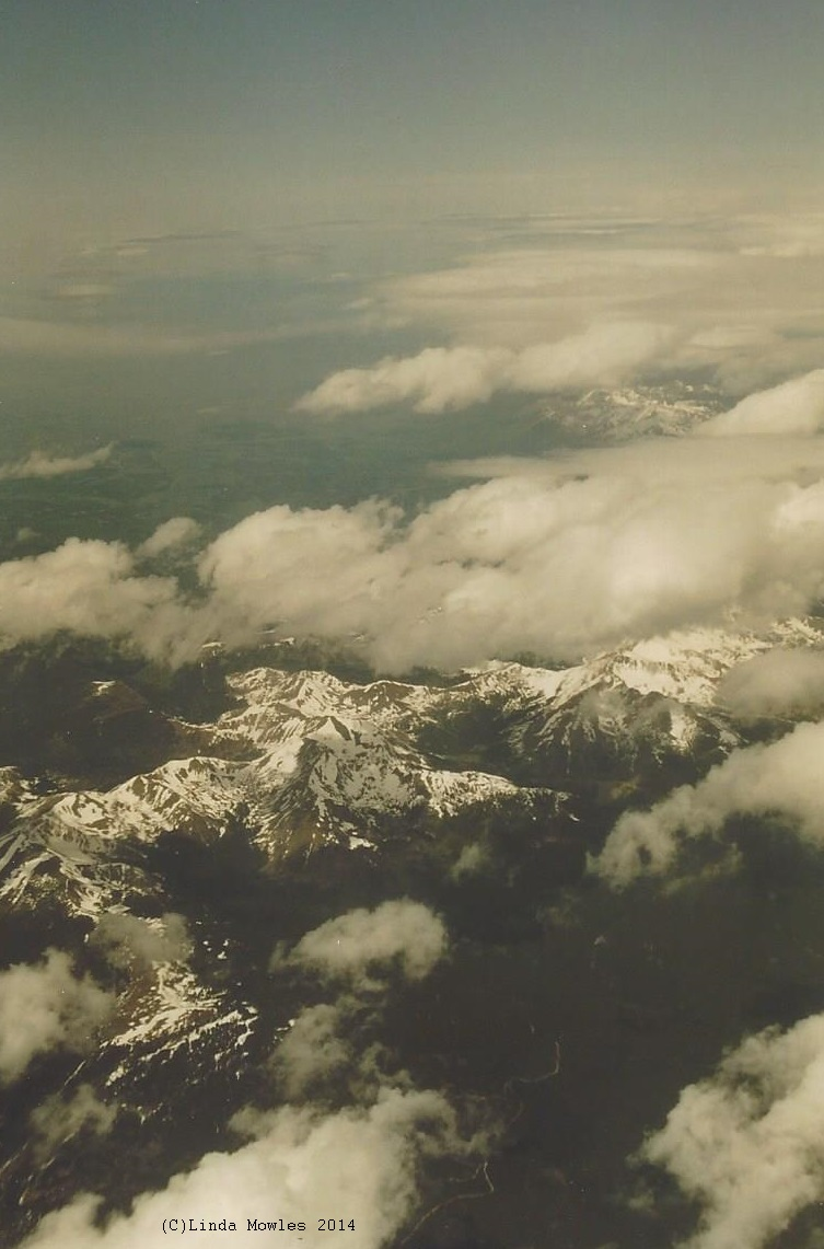 Rocky Mountains from air (C)