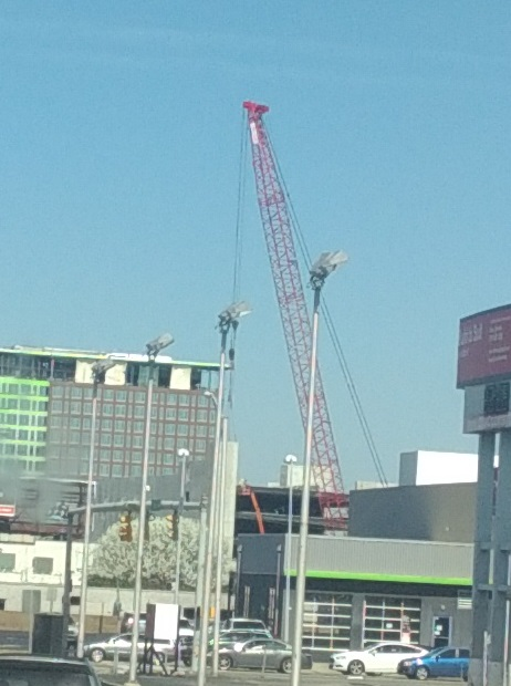 USED Crane visible from interstate in Nashville