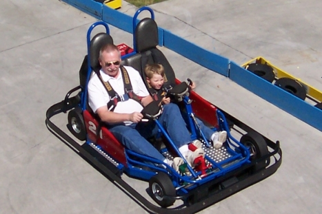 Go cart with grandpa