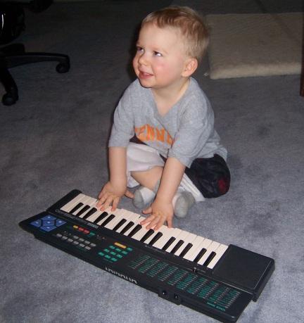 JDD playing keyboard