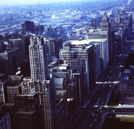 chicago-downtown-from-prudential-building-circa-1960