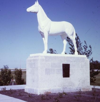 White horse statue, St Francois Xavier, Manitoba