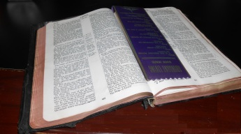 Bible - Grandfather's bible given to him in 1939 by wife and son
