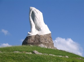 USED Giant praying hands in Webb Missouri