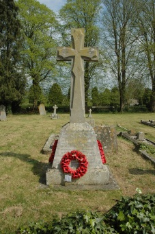 Cemetery monument to Watchfield village soldiers who died in WW I