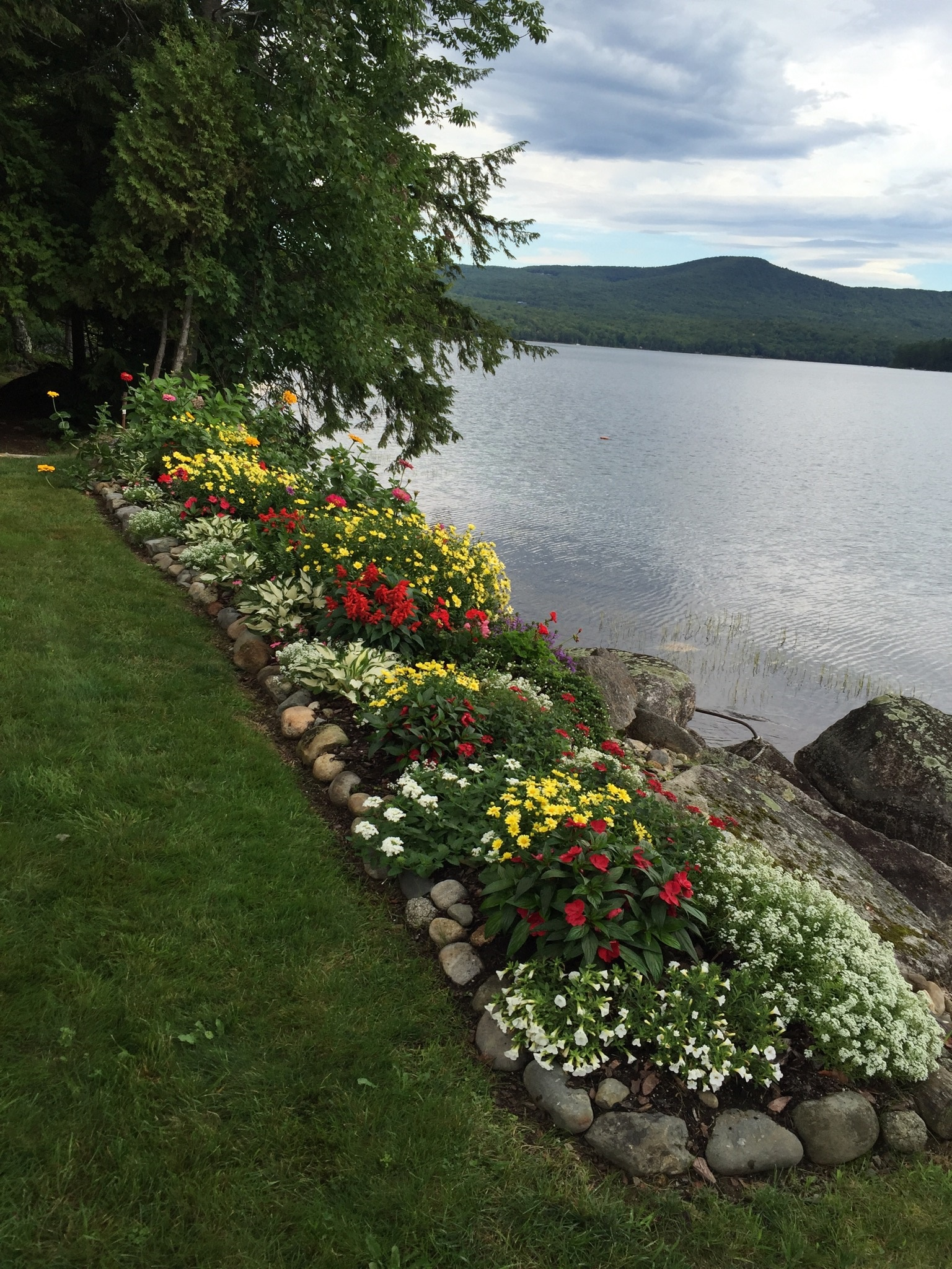 Flower garden in Maine from Bette