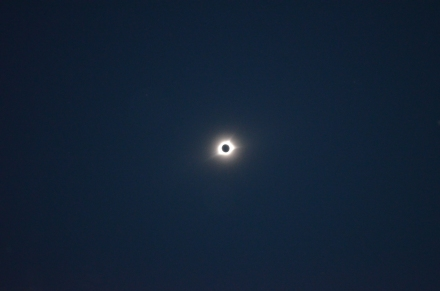 Solar Eclipse in totality with large corona