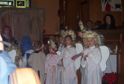 Angels in Epiphany Pageant
