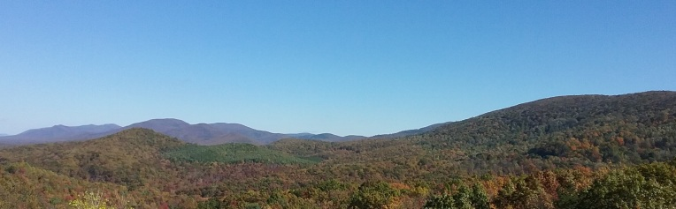 Colorful vista in Virginia mountains