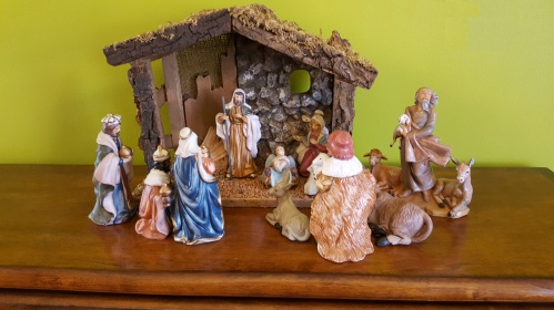 USED Nativity scene in American church