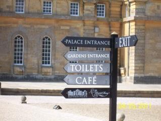 Blenheim Palace signpost