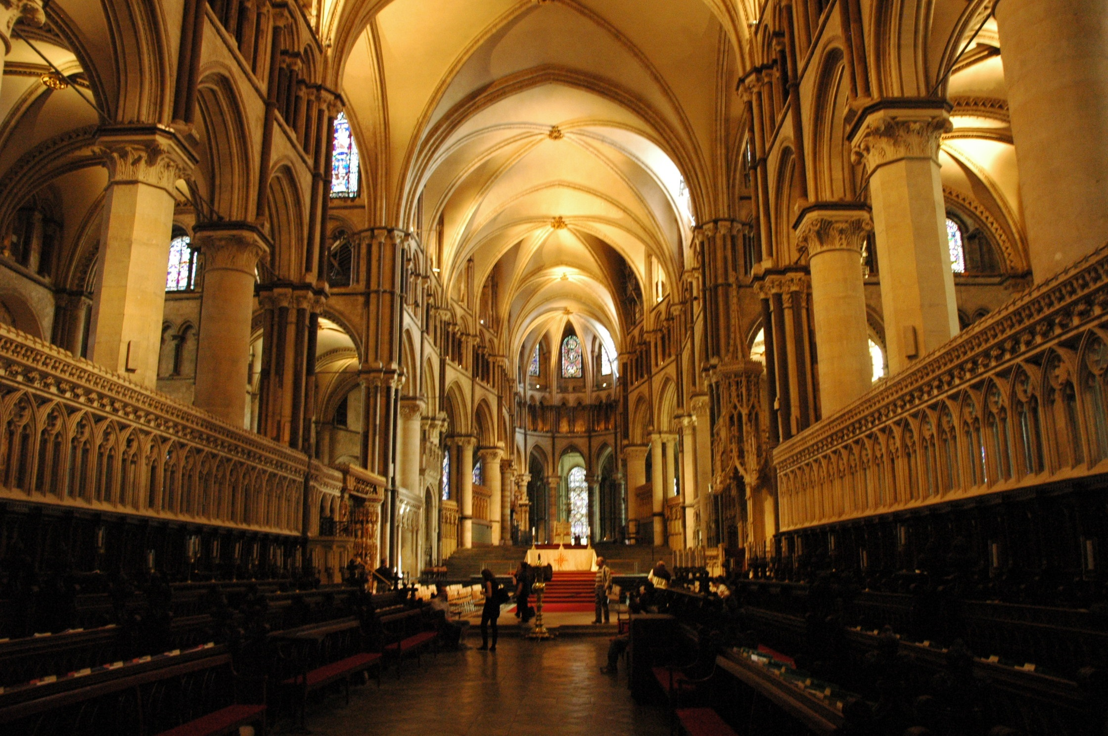 USED Canterbury cathedral view of the altar area