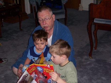 reading to grandchildren