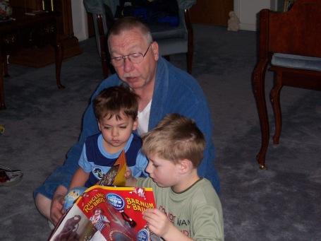 reading to grandchildren