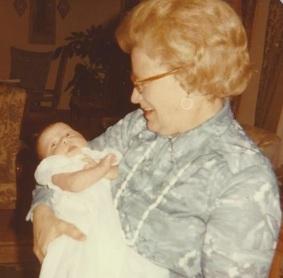 Elizabeth christening 6 weeks old Easter 1978