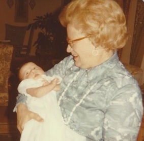 Elizabeth christening 6 weeks old Easter 1978