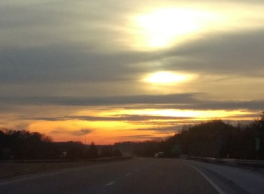 Sunset along I 40 4