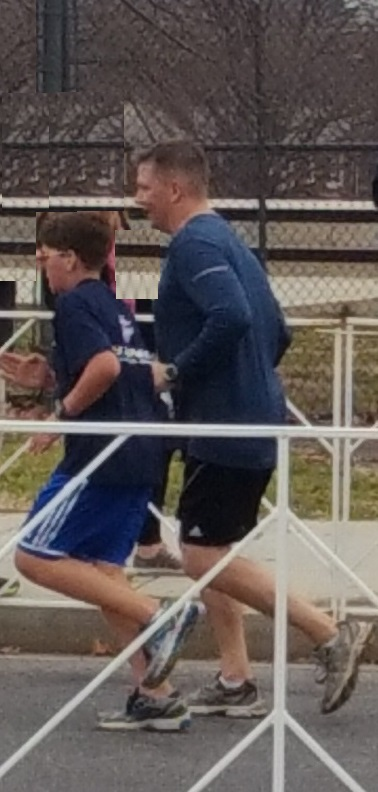 Father and son marathon cropped