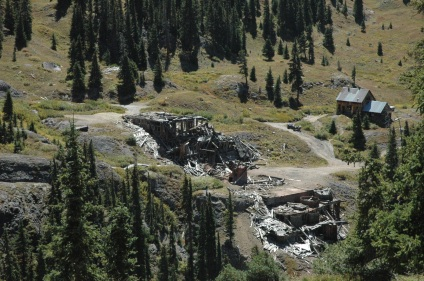 abandoned camp high in Colorado mountains