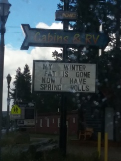 Sign - winter fat gone