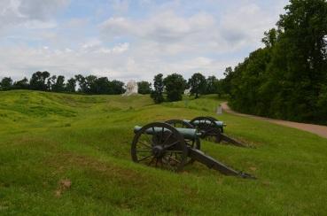 Cannons in Cemetery in Vicksburg MS