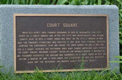 Warren County Courthouse, Court Square plaque Vicksburg MS