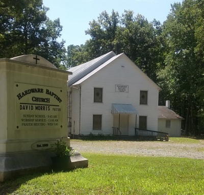 Hardware Baptist Church established in 1802